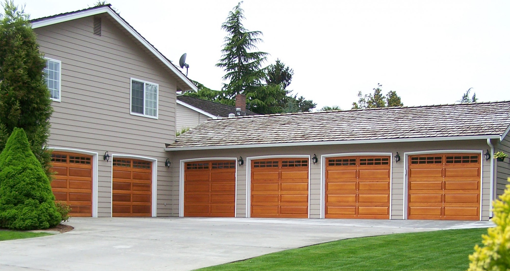 Wood Panel Garage Doors